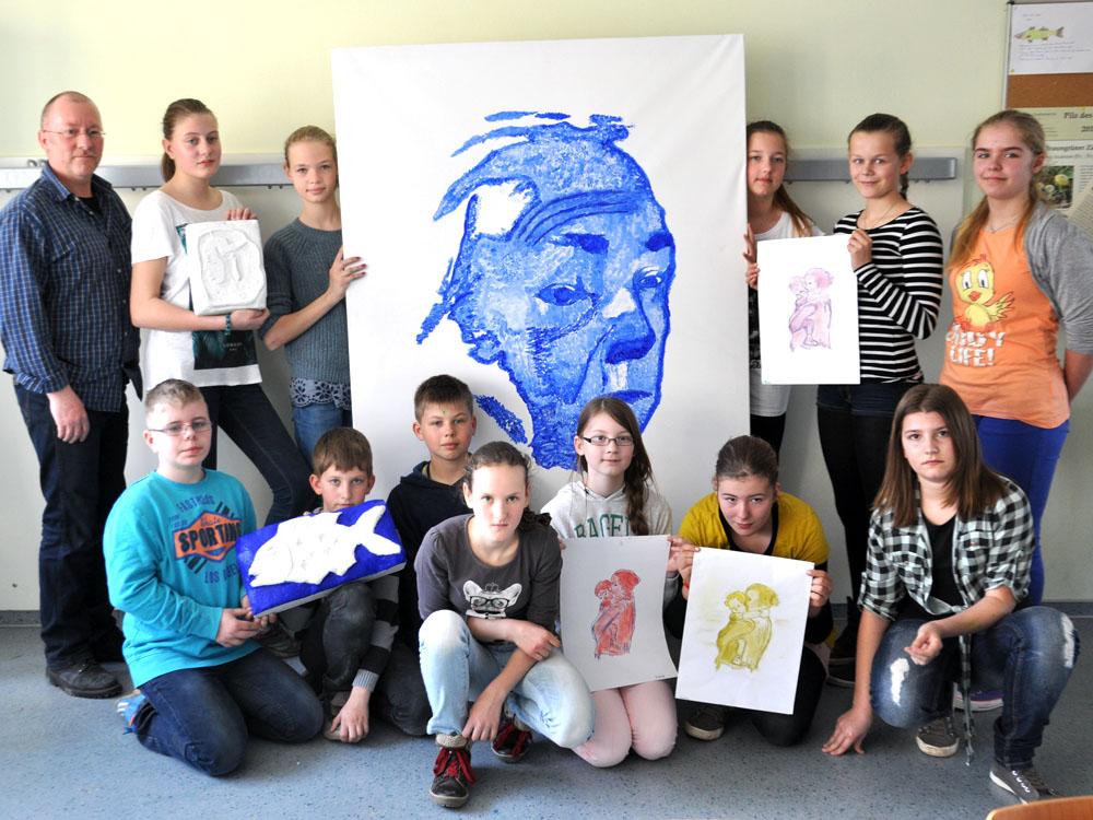 Zeichnen und Malen nach Käthe Kollwitz